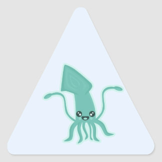 Kawaii Squid Triangle Sticker