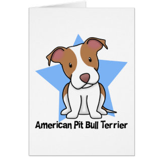 Kawaii Star American Pit Bull Terrier Card