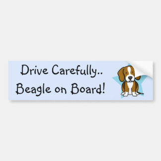 Kawaii Star Beagle Bumper Sticker
