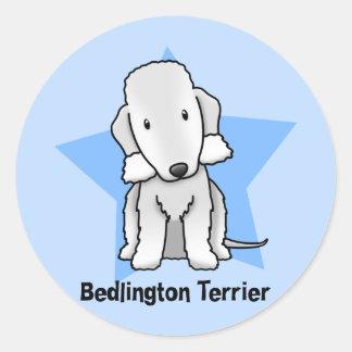 Kawaii Star Bedlington Terrier Classic Round Sticker