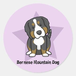 Kawaii Star Bernese Mountain Dog Stickers