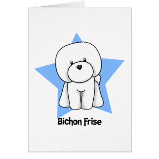 Kawaii Star Bichon Frise Card