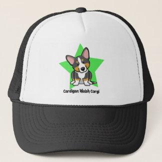 Kawaii Star Black & Tan Cardigan Welsh Corgi Trucker Hat