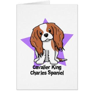 Kawaii Star Blenheim Cavalier King Charles Spaniel Card