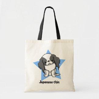 Kawaii Star Blk Japanese Chin Bags