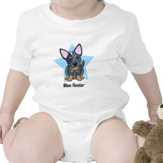 Kawaii Star Blue Heeler Baby Creeper