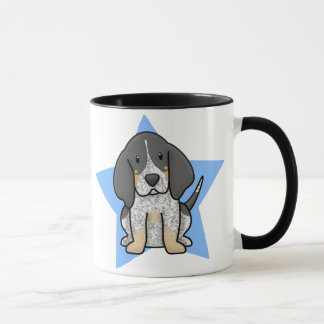 Kawaii Star Bluetick Coonhound Mug