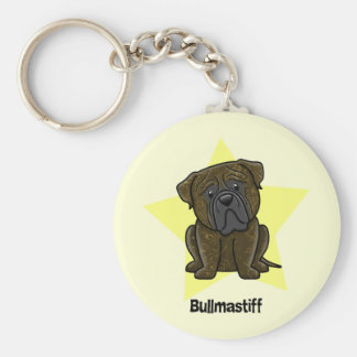 Kawaii Star Brindle Bullmastiff Keychain