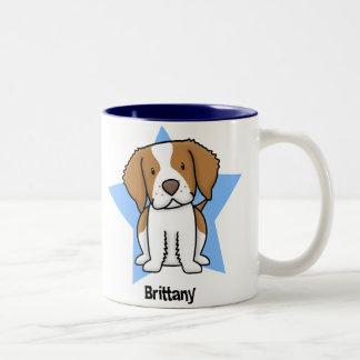 Kawaii Star Brittany Two-Tone Coffee Mug