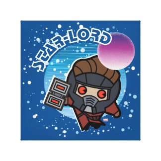 Kawaii Star-Lord In Space Canvas Print