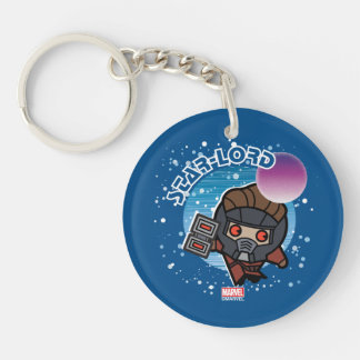 Kawaii Star-Lord In Space Keychain