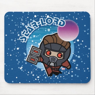 Kawaii Star-Lord In Space Mouse Pad