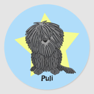 Kawaii Star Puli Classic Round Sticker