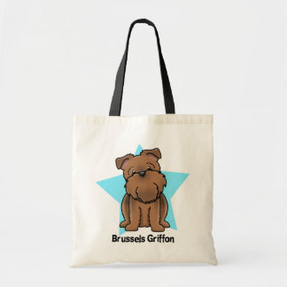Kawaii Star Red Brussels Griffon Tote Bag