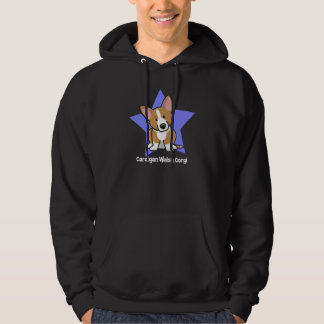 Kawaii Star Red Cardigan Welsh Corgi Hoodie
