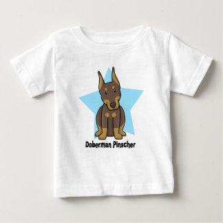 Kawaii Star Red Doberman Pinscher Baby Baby T-Shirt