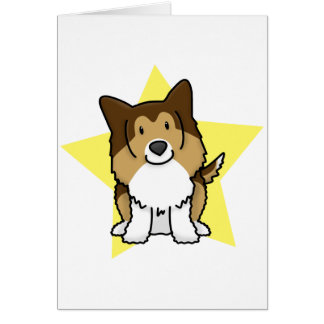 Kawaii Star Sheltie Card