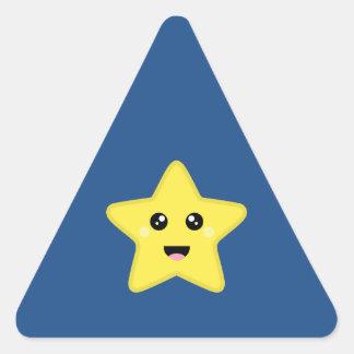 Kawaii Star Triangle Sticker
