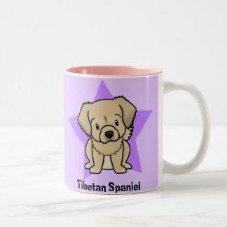 Kawaii Star Tibetan Spaniel Two-Tone Coffee Mug