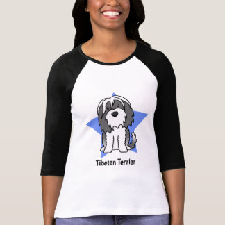 Kawaii Star Tibetan Terrier Ladies T-Shirt