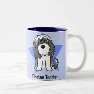 Kawaii Star Tibetan Terrier Two-Tone Coffee Mug