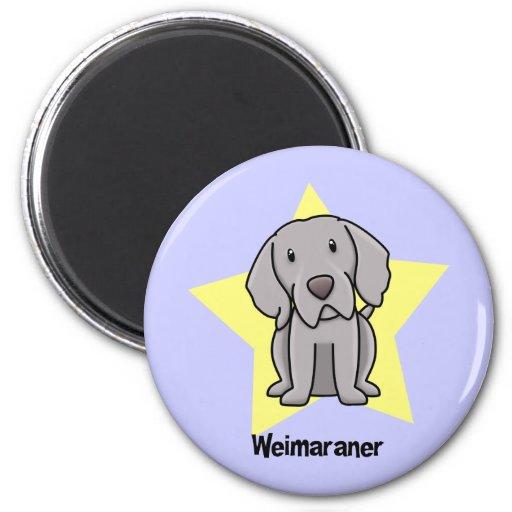 Kawaii Star Weimaraner Refrigerator Magnets