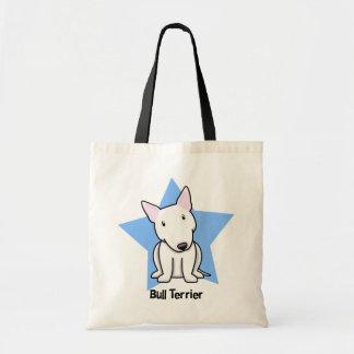 Kawaii Star White Bull Terrier Tote Bag