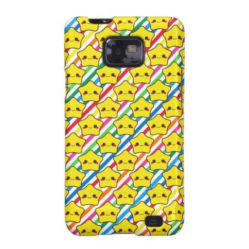 Kawaii Stars Rainbow Stripes Samsung Galaxy SII Cover