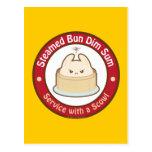 Kawaii Steamed Bun Dim Sum Postcard