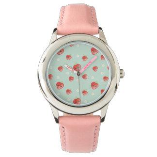 Kawaii Strawberry and Flowers Wrist Watches