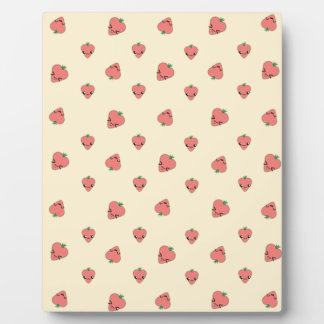 Kawaii Strawberry Background Plaque