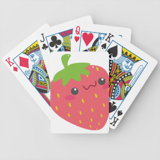 Kawaii Strawberry Bicycle Playing Cards