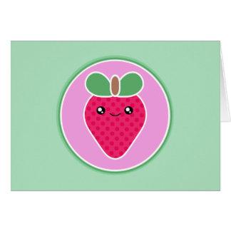 Kawaii Strawberry Birthday Card