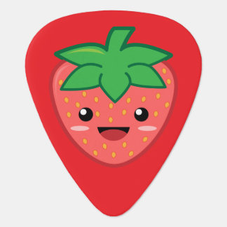 Kawaii Strawberry Guitar Pick