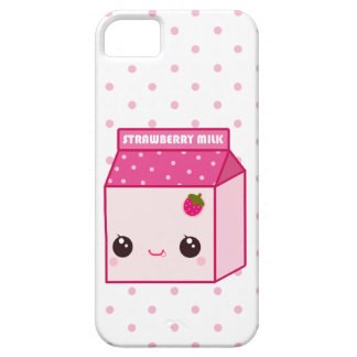 Kawaii strawberry milk carton iPhone 5 cover