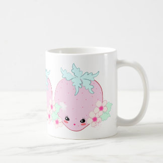 Kawaii Strawberry Basic White Mug