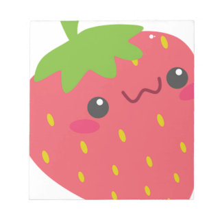 Kawaii Strawberry Notepad