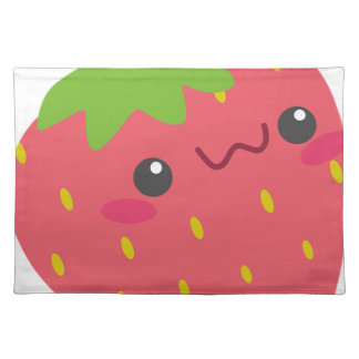 Kawaii Strawberry Placemat