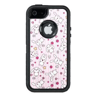 kawaii stripes pattern OtterBox defender iPhone case