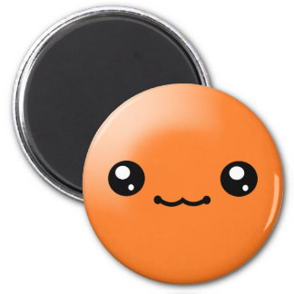 Kawaii Sugar Dots Orange Happy Face Magnet