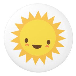 Kawaii sun door knob - cute design for kids