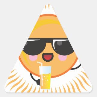 Kawaii Sun Triangle Sticker