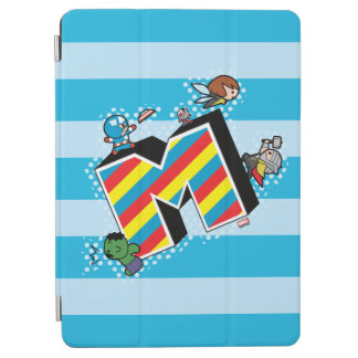 Kawaii Super Heroes on Striped M iPad Air Cover