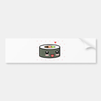 Kawaii Sushi Bumper Sticker