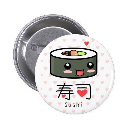 Kawaii Sushi Button