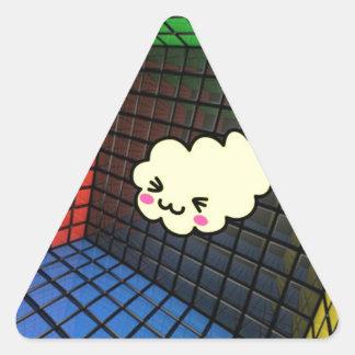 kawaii sushi matrix cute funny triangle sticker