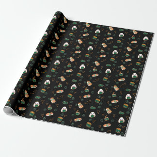 Kawaii Sushi Party Wrapping Paper Cute Adorable