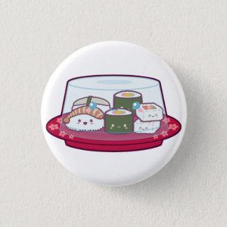 Kawaii Sushi Plate 1 Inch Round Button