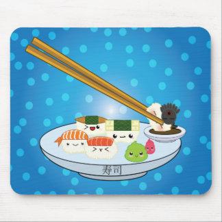 Kawaii Sushi Platter Mouse Pad