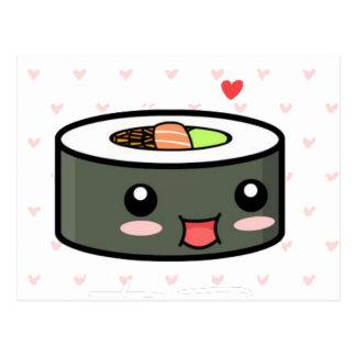 Kawaii Sushi Postcard
